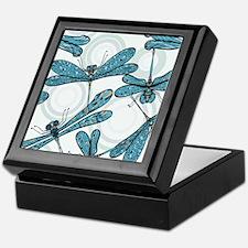 Blue Dragonflies Keepsake Box