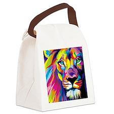 Leo the trippy lion Canvas Lunch Bag