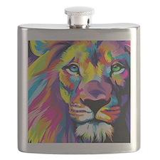 Leo the trippy lion Flask