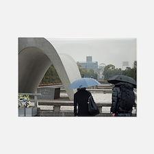 Cenotaph arch Hiroshima Rectangle Magnet