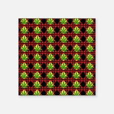 """Marijuana Pattern Art Square Sticker 3"""" x 3"""""""