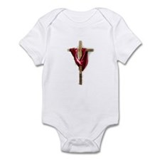 Cross with Red Robe Infant Bodysuit