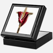 Cross with Red Robe Keepsake Box