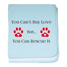 You Can't Buy Love baby blanket