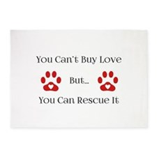 You Can't Buy Love 5'x7'Area Rug