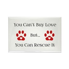 You Can't Buy Love Rectangle Magnet