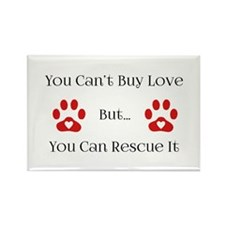 You Can't Buy Love Rectangle Magnet (100 pack)