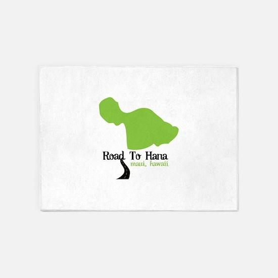 Road To Hana Maui,Hawaii 5'x7'Area Rug