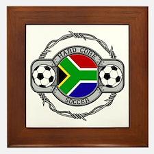 South Africa Soccer Framed Tile