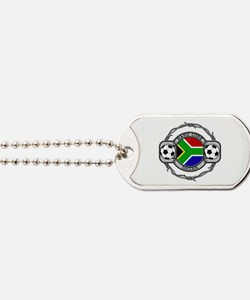 South Africa Soccer Dog Tags