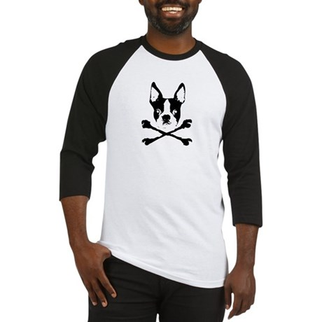 Boston Terrier Crossbones Baseball Jersey