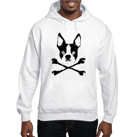 Boston Terrier Crossbones Hooded Sweatshirt