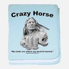 Crazy Horse: My Lands baby blanket