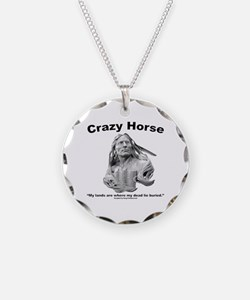 Crazy Horse: My Lands Necklace Circle Charm