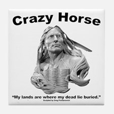 Crazy Horse: My Lands Tile Coaster