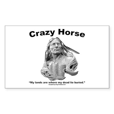 Crazy Horse: My Lands Sticker (Rectangle)