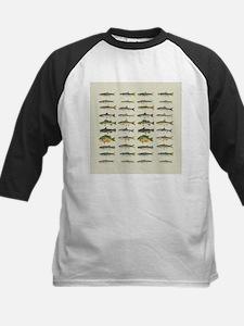 Freshwater Fish Chart Kids Baseball Jersey