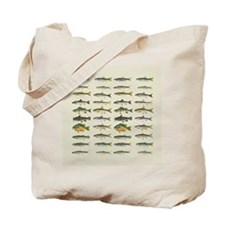 Freshwater Fish Chart Tote Bag