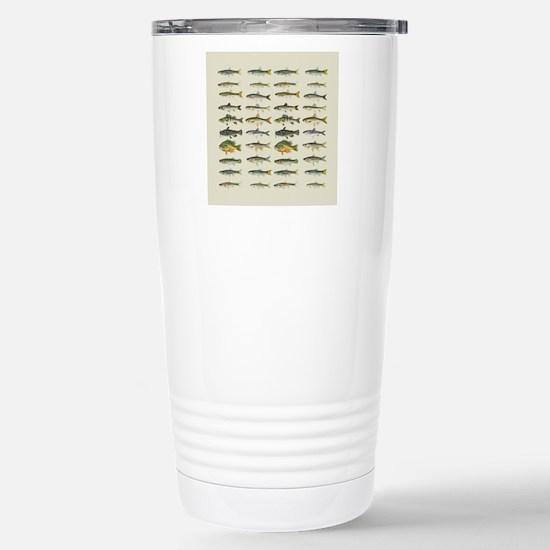 Freshwater Fish Chart Stainless Steel Travel Mug
