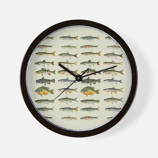 Freshwater Fish Chart Wall Clock