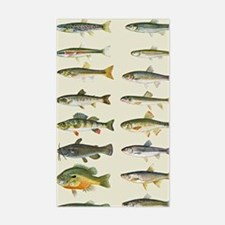 Freshwater Fish Chart Sticker (Rectangle)