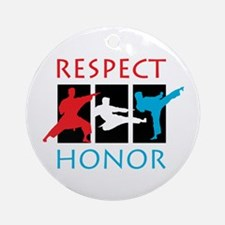 Respect Honor Ornament (Round)
