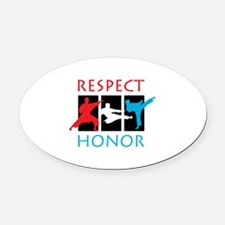 Respect Honor Oval Car Magnet