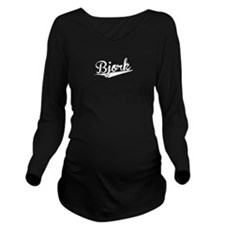 Bjork, Retro, Long Sleeve Maternity T-Shirt