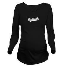 Blackhawk, Retro, Long Sleeve Maternity T-Shirt