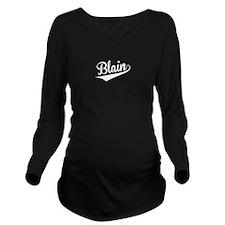 Blain, Retro, Long Sleeve Maternity T-Shirt