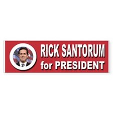 Rick Santorum for President 2016 Bumper Stickers