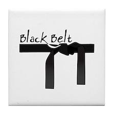 Black Belt Tile Coaster