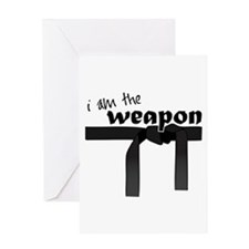 I Am The Weapon Greeting Cards