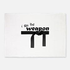 I Am The Weapon 5'x7'Area Rug
