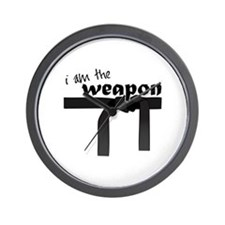 I Am The Weapon Wall Clock
