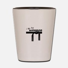 I Am The Weapon Shot Glass