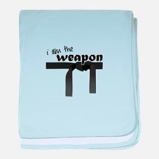 I Am The Weapon baby blanket