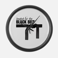 Headed For The Black Belt Large Wall Clock