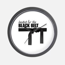 Headed For The Black Belt Wall Clock