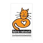 Feline Network Logo - Rectangle Sticker
