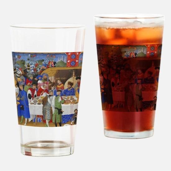 Medieval illustration Drinking Glass