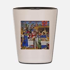 Medieval illustration Shot Glass