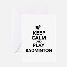 Keep calm and play Badmi Greeting Cards (Pk of 10)