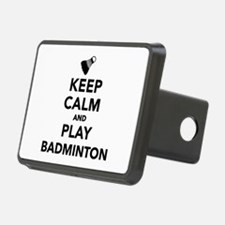 Keep calm and play Badmint Hitch Cover