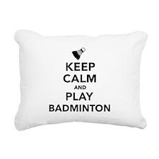 Keep calm and play Badmi Rectangular Canvas Pillow