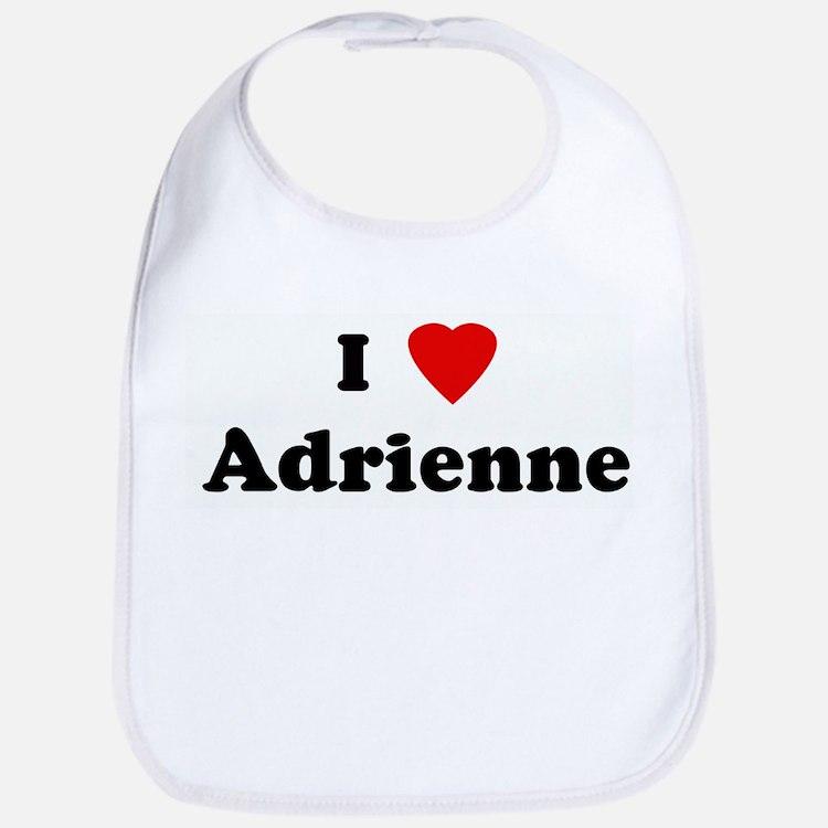 I Love Adrienne Bib