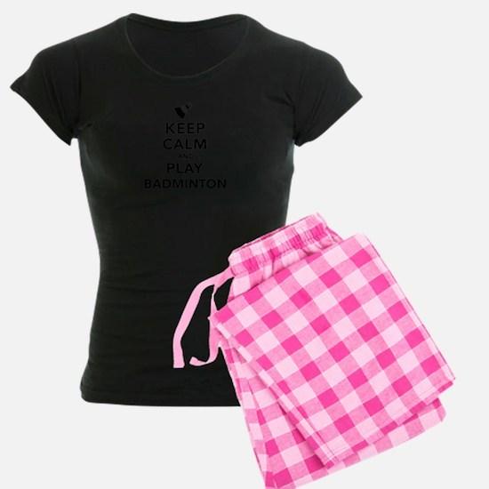 Keep calm and play Badminton pajamas