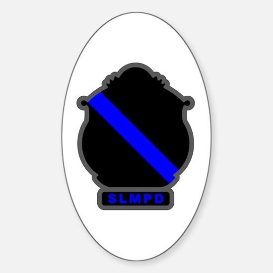 Blue Line SLMPD Oval Decal