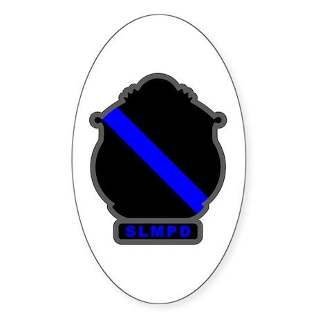 Blue Line SLMPD Oval Sticker