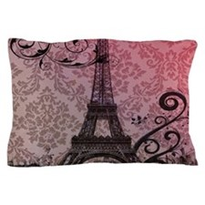 vintage damask modern paris eiffel tower Pillow Ca